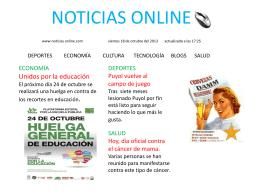 NOTICIAS ONLINE www.noticias online.com viernes 18 de octubre
