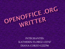 OPENOFFICE .ORG WRITTER