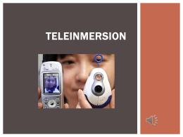 TELEINMERSION - EddyWilliamz