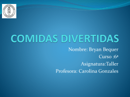 COMIDAS DIVERTIDAS BRYAN BEQUER 135KB Oct 30 2014