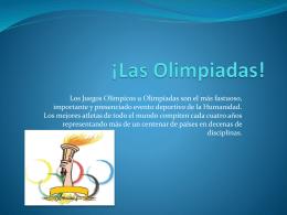 ¡Las Olimpiadas!