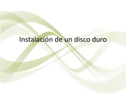 Instalación de un disco duro