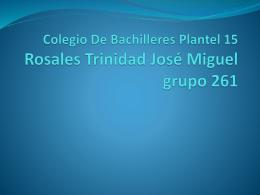 Colegio De Bachilleres Plantel 15 Rosales Trinidad José Miguel
