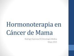 Hormonoterapia en Cáncer de Mama