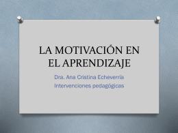 la motivación en el aprendizaje - OEO197-INTERVENCIONES-ACES