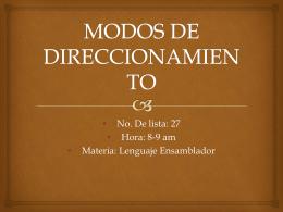 MODOS DE DIRECCIONAMIENTO - wiki