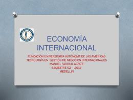 ¿de qué trata la economía internacional?