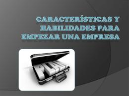 Características y Habilidades para empezar una empresa (248