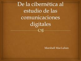 De la cibernética al estudio de las comunicaciones