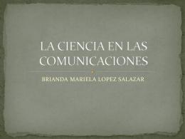 LA CIENCIA EN LAS COMUNICACIONES
