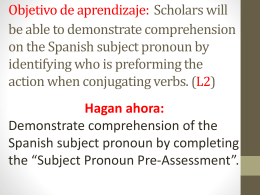 Lesson 2-Subject pronoun