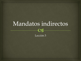 Leccion 3 Mandatos indirectos