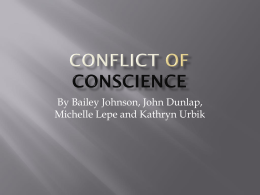 Conflict Of Conscious