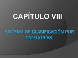 8. Sistema de clasificación por categorias