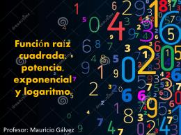 Función raíz cuadrada, potencia, exponencial y logaritmo