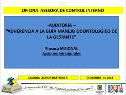 PRESENTACION MANEJO ODONTOLOGICO DE LA GESTANTE