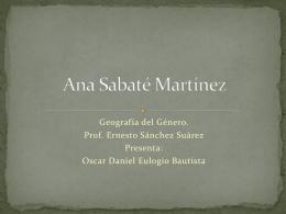 Ana Sabaté - Geografía del género