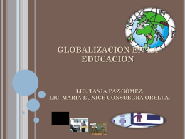 GLOBALIZACION EN LA EDUCACION