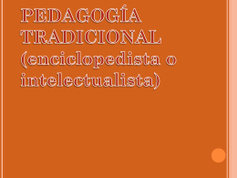La Pedagogia Tradicional