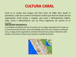 CULTURA CARAL - aulawikiinteractiva
