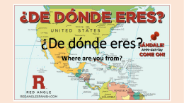¿De dónde eres? Where are you from? Hola, me llamo Drake. Yo