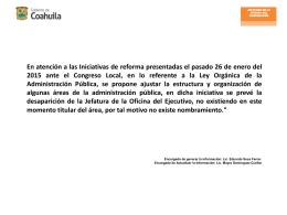 En proceso - Coahuila Transparente
