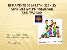 Ley Nº 223 - Loida Gutierrez y Rossi Espinoza