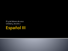 Español III
