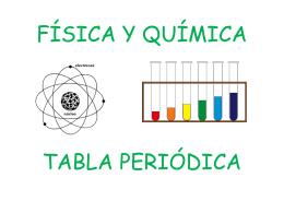 FÍSICA Y QUÍMICA TABLA PERIÓDICA