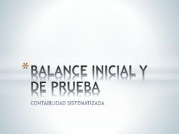 BALANCE INICIAL Y DE PRUEBA