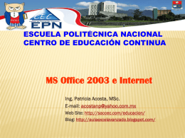 Temario MS Office 2003