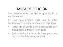 tarea de religión - Cambridge College Secondary Religion