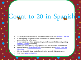 free count to 20 in Spanish Power Point