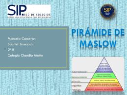 Maslow piramide- Troncoso