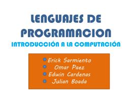 lenguajes de programacion introducción a la computación