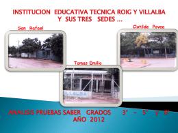 Diapositiva 1 - Institucion Educativa Tecnica Roig y Villalba