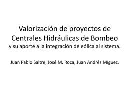 Valorización de proyectos de Centrales Hidde Bombeo y su aporte
