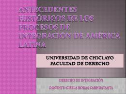 ANTEC. DE LA I° AMERICANA