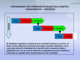 universidad-una permanente dialéctica sujetos – conocimiento