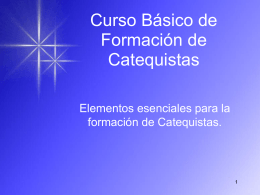 Curso Básico de Formación de Catequistas