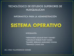 PRESENTACION DE SISTEMA OPERATIVO - educa