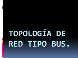 Topología de red tipo bus
