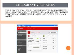 utilizar antivirus avira