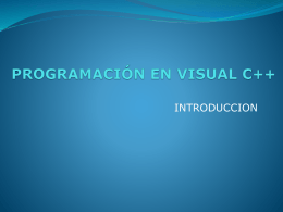 PROGRAMACIÓN EN VISUAL C++