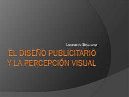 El Diseño Publicitario Y la Percepción visual - Leonardo