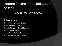 Actualidad sobre las NIIF