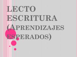 Aprendizaje esperados en Lectoscritura