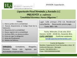 Presentación de PowerPoint - Capacitación Fiscal Hernandez y