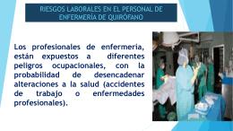 riesgos laborales en el personal de enfermería de