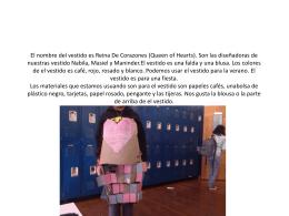 El nombre del vestido es Reina De Corazones (Queen of Hearts